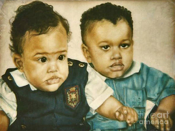 Painting - Paintings By Monica C. Stovall - Pastel Portrait No. Pp6 by Monica C Stovall