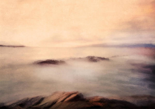 Classic Rock Mixed Media - Pastel Soft Waters  by Isabella Howard