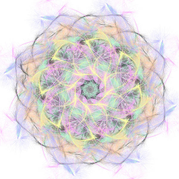 Digital Art - Pastel Wisps Mandala by Beth Sawickie