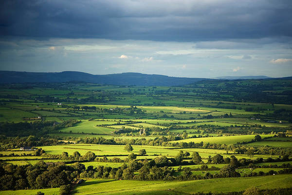 County Waterford Photograph - Pastoral Fields, Near Clonea, County by Panoramic Images