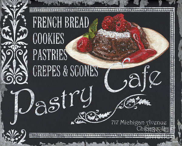 Cafes Wall Art - Painting - Pastry Cafe by Debbie DeWitt