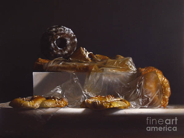 Glazed Wall Art - Painting - Pastry by Lawrence Preston