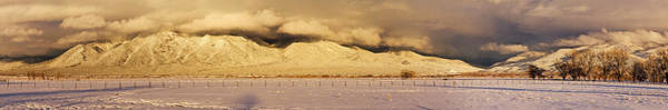 Sangre De Cristo Photograph - Pasture Land Covered In Snow At Sunset by Panoramic Images