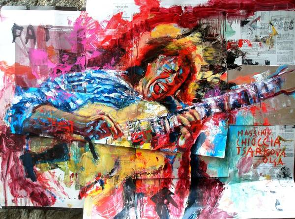 Wall Art - Painting - Pat Metheny by Massimo Chioccia