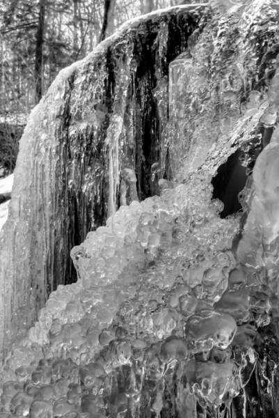 Photograph - Patapsco State Park Frozen Water by Dennis Dame