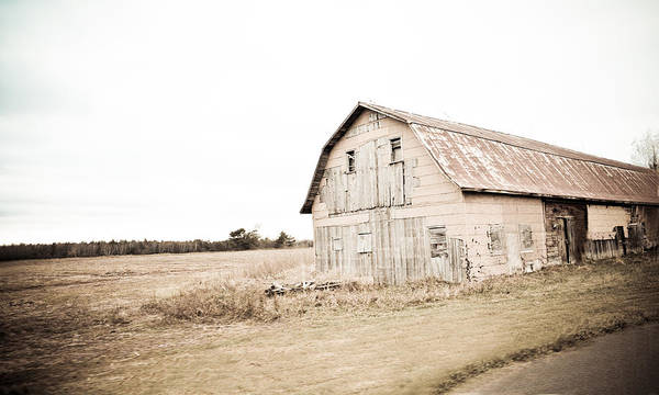 Photograph - Patched Up Barn by Maggy Marsh