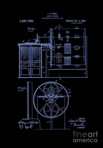 Photograph - Patent Art 1920 Closet Display Blue by Lesa Fine