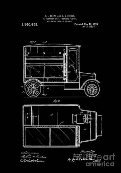Photograph - Patent Art 1920 Refrigerator Truck I by Lesa Fine