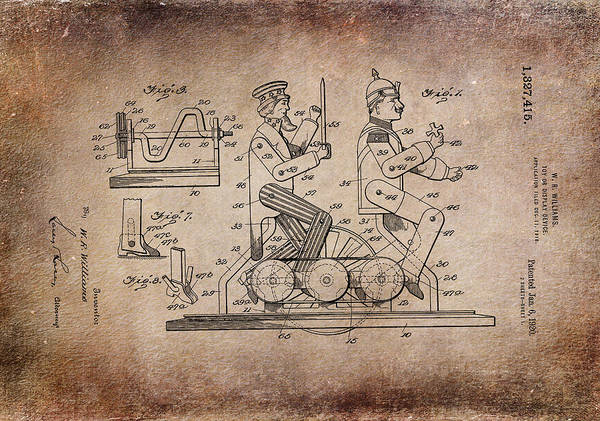 Digital Art - Patent Art 1920 Toy Display Antiqued by Lesa Fine