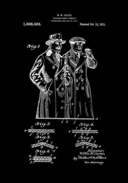 Digital Art - Patent Art 1921 Cellular Sheet Display - Inverted by Lesa Fine