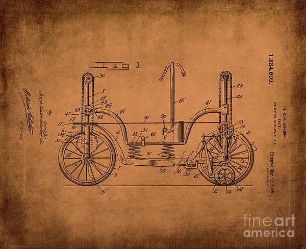Digital Art - Patent Art Guindon 1920 Roller Skates Antq by Lesa Fine