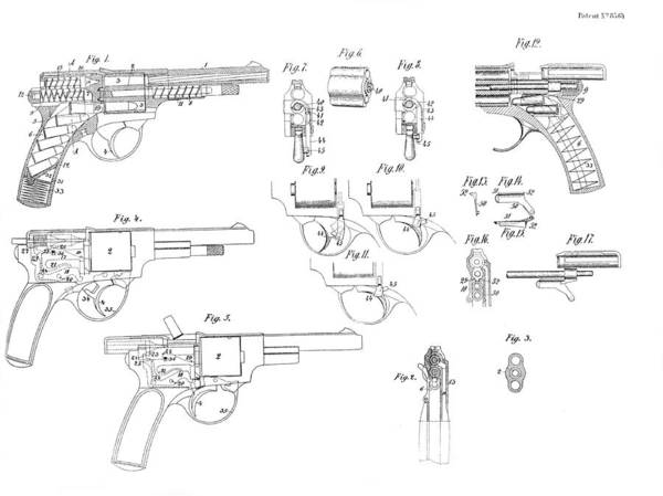 Photograph - Patent For The Landstad Automatic Revolver by Doc Braham