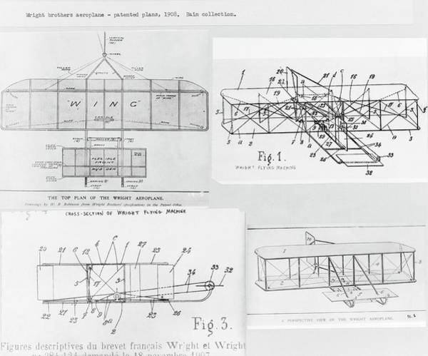 Wall Art - Photograph - Patent For The Wright Brothers' Aeroplane by Library Of Congress/science Photo Library