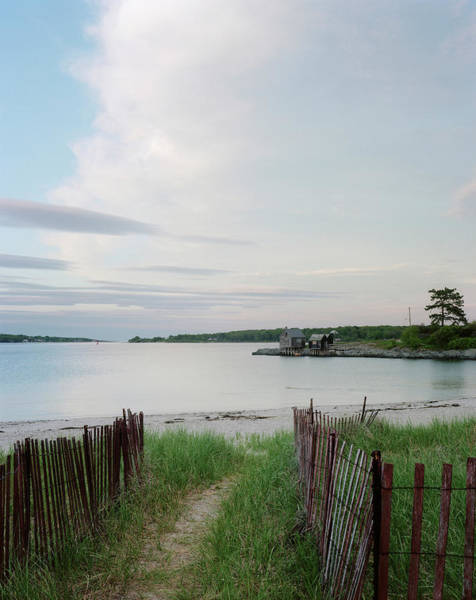 Wall Art - Photograph - Path Down To Willard Beach At Sunset by Mark Marchesi