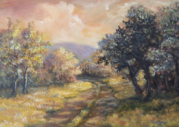 Painting - Path In The Woods by Katalin Luczay