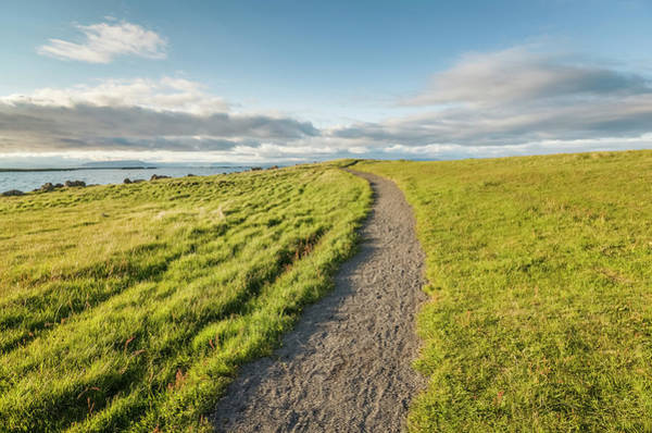 Photograph - Path On Grassy Hill On Small Island by Arctic-images