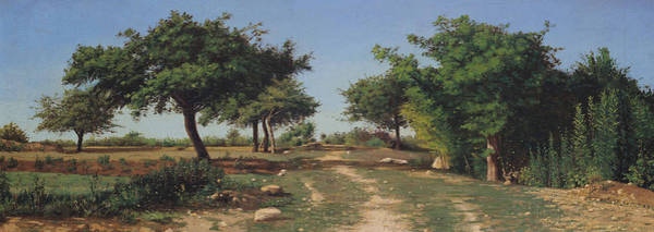 Apple Orchard Painting - Path Through The Apples Trees by Antoine Chintreuil
