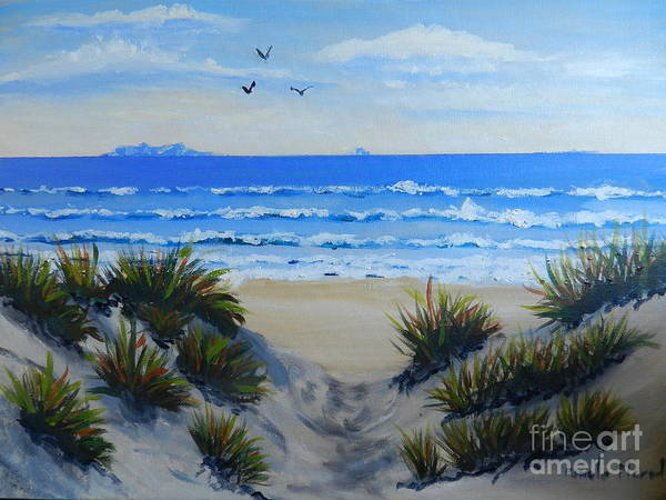 Wall Art - Painting - Path Through The Sand Dunes by Pamela  Meredith