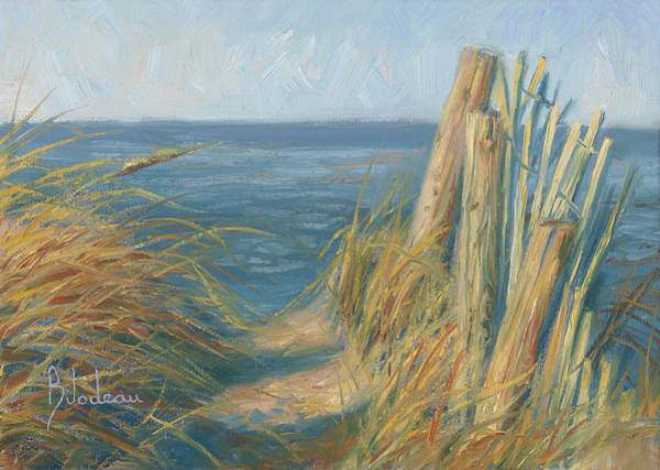 Dry Wall Art - Painting - Path To The Beach by Lucie Bilodeau