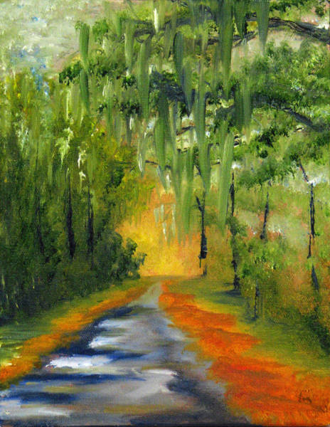 Jekyll Island Painting - Path To The Beach by Sherry Robinson