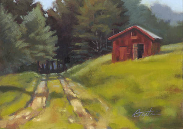 Tin Roof Wall Art - Painting - Path To The River by Todd Baxter