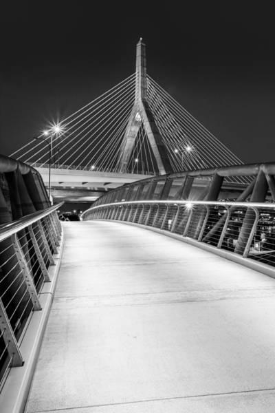 Photograph - Path To The Zakim Bridge Bw by Susan Candelario