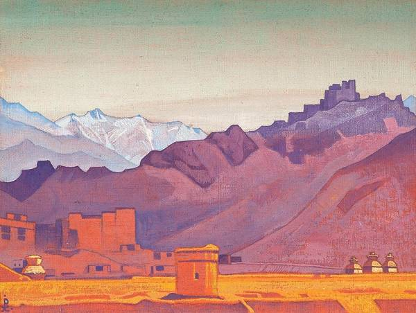 Nk Roerich Painting - Path To Tibet by Nicholas Roerich