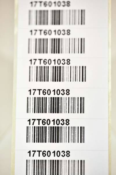 Barcodes Wall Art - Photograph - Pathology Sample Labels by Dr P. Marazzi/science Photo Library