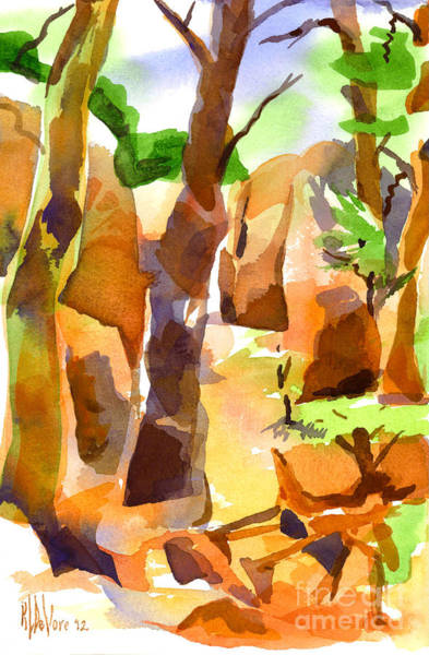 Painting - Pathway Through Elephant Rocks 1b by Kip DeVore