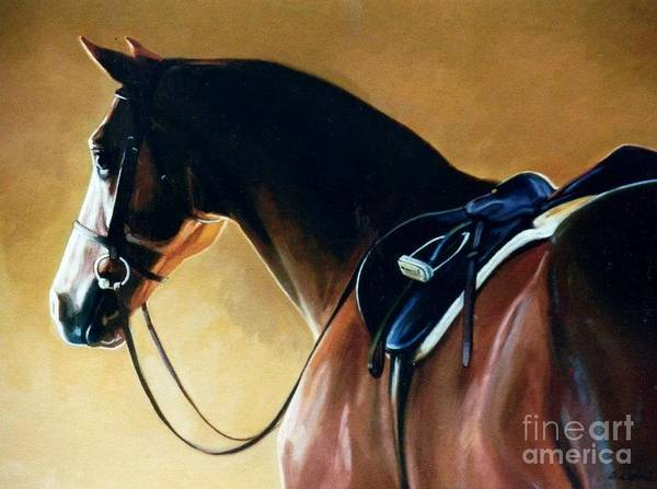 Chestnut Horse Painting - Patience by Janet  Crawford