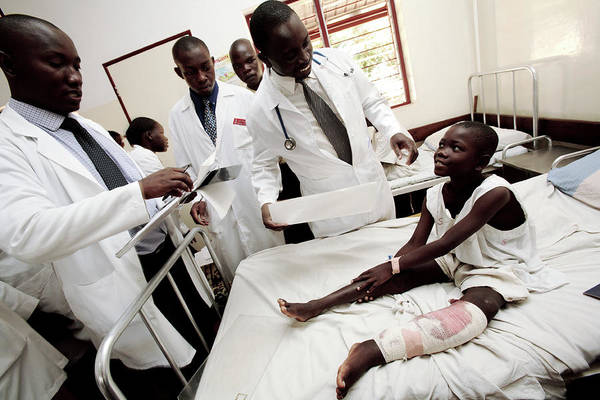 Developing Country Photograph - Patient Assessment by Mauro Fermariello/science Photo Library