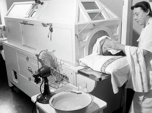 Fever Photograph - Patient In Fever Machine by Library Of Congress