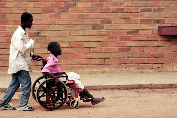 Developing Country Photograph - Patients Outside A Hospital by Mauro Fermariello/science Photo Library