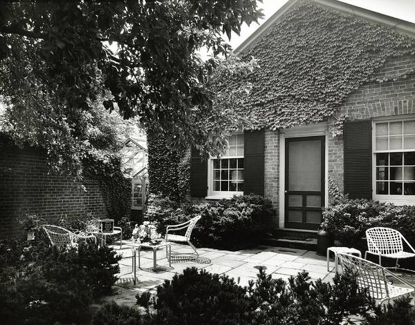 Playhouse Photograph - Patio And Playhouse by Tom Leonard