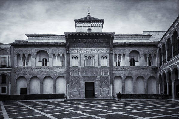 Photograph - Patio De La Montaria Bw by Joan Carroll