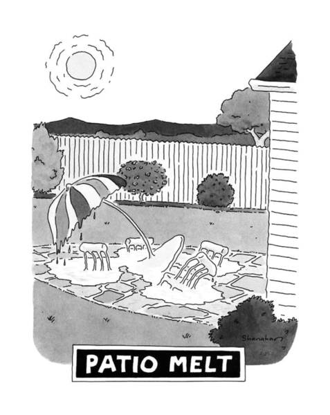 Sandwiches Drawing - Patio Melt by Danny Shanahan
