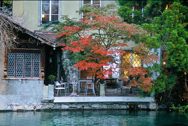 Patio On The River Art Print