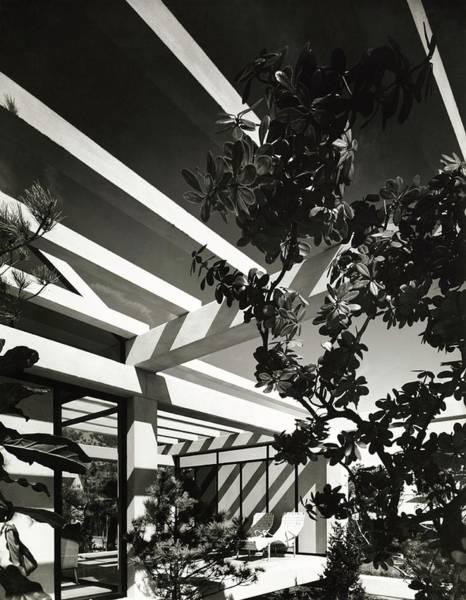 Patio Photograph - Patio With Pergola by Robert M. Damora