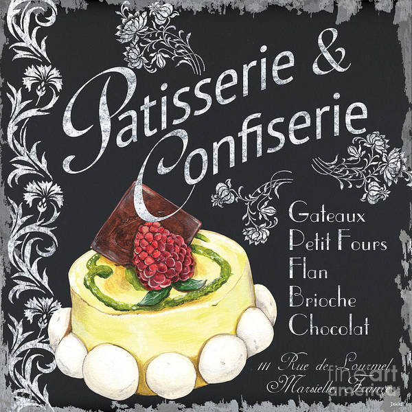Bakery Painting - Patisserie And Confiserie by Debbie DeWitt
