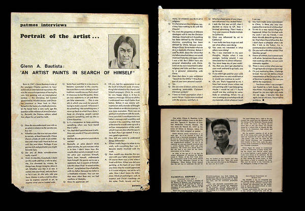 Photograph - Patmos Interview 1976 by Glenn Bautista