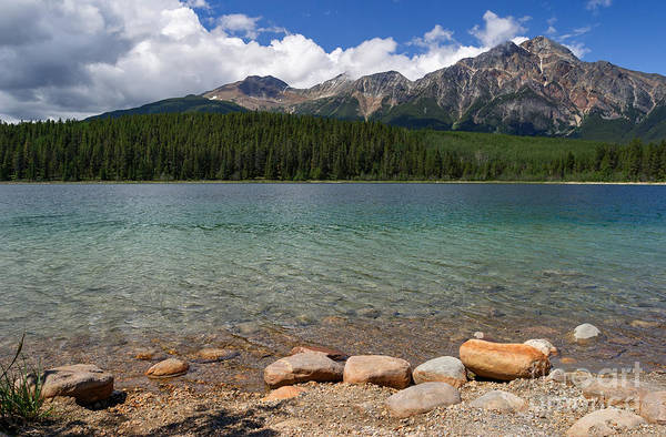 Photograph - Patricia Lake And Pyramid Mountain by Charles Kozierok