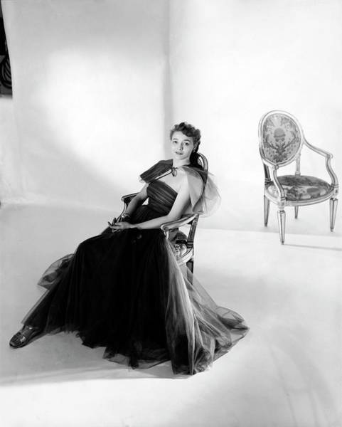 Furniture Photograph - Patricia Neal Wearing A Tulle Dress by Horst P. Horst