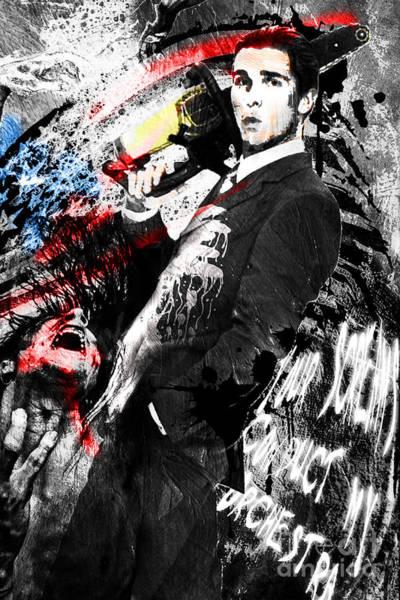 Psycho Painting - Patrick Bateman - American Psycho by Ryan Rock Artist