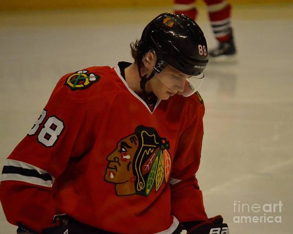 Photograph - Patrick Kane Reflects by Melissa Jacobsen