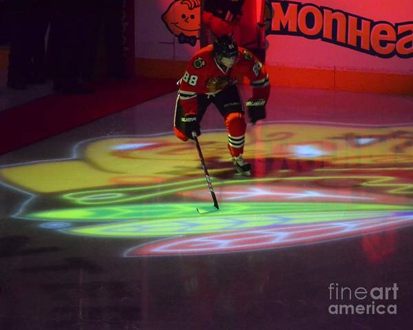 Photograph - Patrick Kane Takes The Ice by Melissa Jacobsen