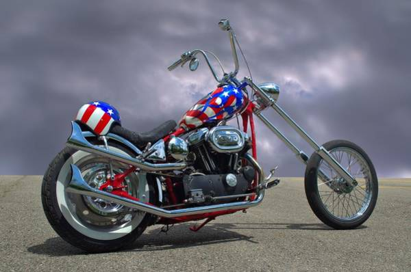 Photograph - Custom Harley Davidson Motorcycle by Tim McCullough