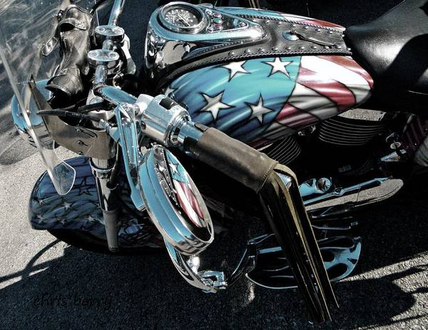 Wall Art - Photograph - Patriotic Bike by Chris Berry