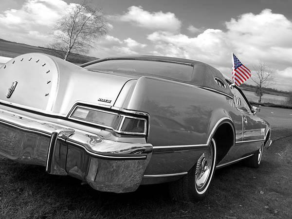 Photograph - Patriotic Lincoln Continental 1976 by Gill Billington