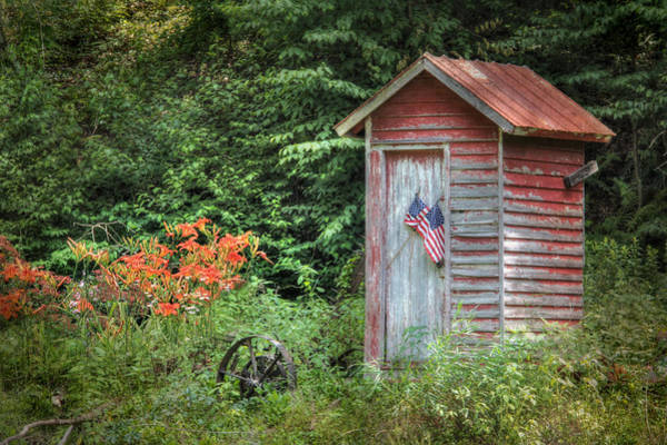 Wall Art - Photograph - Patriotic Outhouse by Lori Deiter