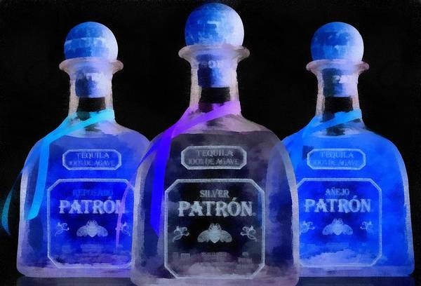 Painting - Patron Tequila Black Light by Dan Sproul